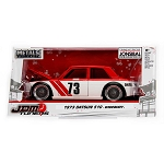 JDM TUNERS: 1973 Datsun 510 Widebody (Red/White) 1/24 Scale
