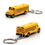Set of 2 Mini School Bus w/ Keychain