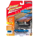 Johnny Lightning: 1971 Chevy Monte Carlo SS (Blue Poly) 1/64 Scale
