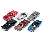 Set of 6: Johnny Lightning American Muscle Series 1/64 Scale