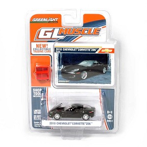 Greenlight GL Muscle Series: 2010 Chevy Corvette Z06 (Black) 1/64 Scale