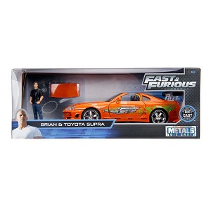 Hollywood Rides: Fast & Furious Toyota Supra with Brian Figure 1/24 Scale