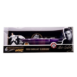 Jada Hollywood Rides: 1956 Cadillac Eldorado Purple & Elvis Figure 1/24 Scale