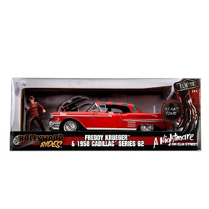 Hollywood Rides: Nightmare on Elm St. 1958 Cadillac with Freddy Krueger 1/24 Scale