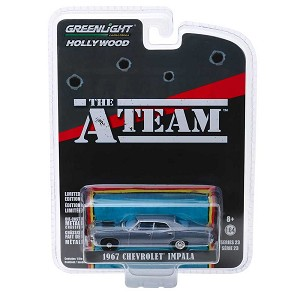 "Greenlight Hollywood Series: 1967 Chevy Impala ""The A-Team"" 1/64 Scale"