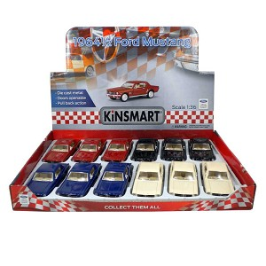 "5"" Die-cast Kinsmart Box of 12: 1964½ Ford Mustang Coupe 1/36 Scale"