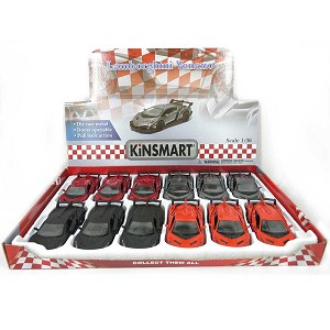 "5"" Die-cast Kinsmart Box of 12: Lamborghini Veneno 1/36 Scale"