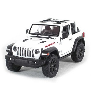 "5"" Die-cast: 2018 Jeep Wrangler Rubicon Conv. (White) 1/34 Scale"