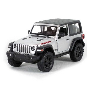 "5"" Die-cast: 2018 Jeep Wrangler Rubicon Hard Top (Silver) 1/34 Scale"