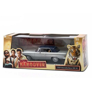 "Greenlight Hollywood Series: 1969 Mercedes 280 SE ""The Hangover"" 1/43 Scale. Tiger in Back Seat!"