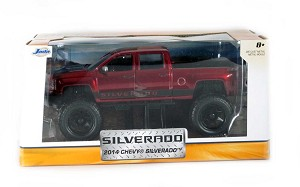 Just Trucks Series: 2014 Chevy Silverado Off Road (Red) 1/24 Scale