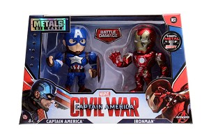 "4"" METALS Marvel Twin Pack: Iron Man & Captain America from Civil War"