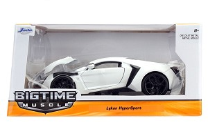 Bigtime Muscle Series: Lykan Hypersport (White) 1/24 Scale