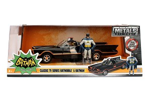 Batmobile with Batman and Robin