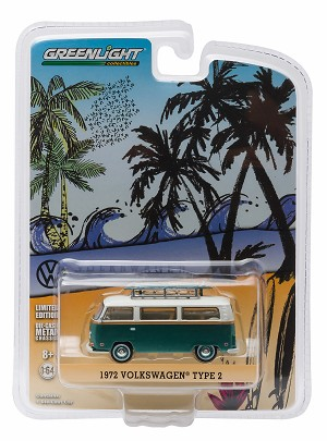 Greenlight: 1972 VW Type 2 (T2B) Van‏ with Surf Boards 1/64 Scale