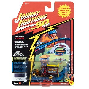 Johnny Lightning 50th: George Barris Ice Cream Truck Daisy Bell Custom Black Metallic 1/64 Scale